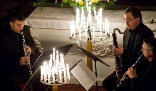 Stadlerovo klarinetové kvarteto - koncert při svíčkách - Lípa Musica 2010